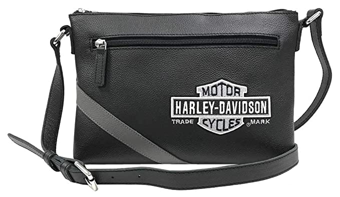 df96712c64f3 Amazon.com: Harley-Davidson Women's Vintage B&S Embroidery Crossbody ...
