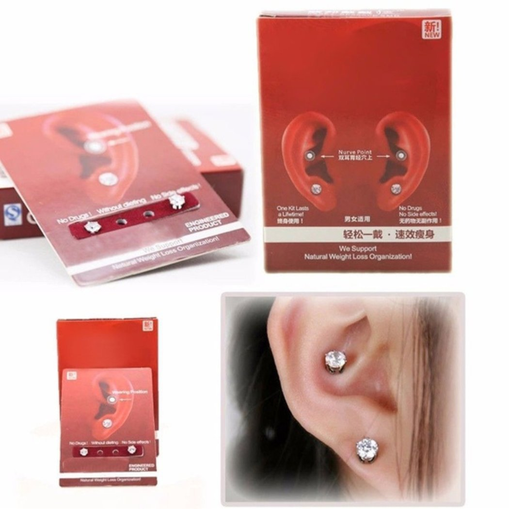 OppoLing Ear Nail Fat Burning Without Dieting Magnet Crystal Earring Ear Stud Valid Best Product by OppoLing (Image #4)