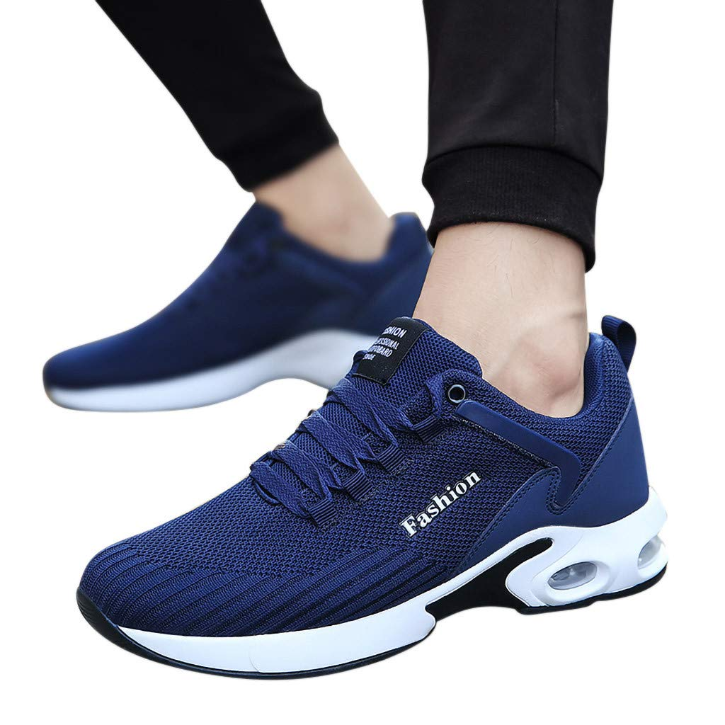 yoyorule Casual Shoes Leisure Men Flat Platform Running Spots Shoes Non-Slip Breathable Light Sneakers