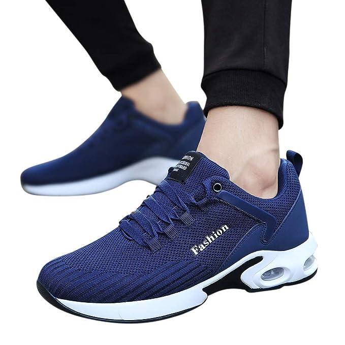 Memefood 2019 Zapato Deporte Mujer De Malla Transpirable Con Cordones Con Plataforma Zapatillas De Suela Gruesa Air Tacón Para Running Correr Outdoor ...