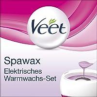 Veet Spawax elektrisches Warmwachs Set, Langanhaltende Haarentfernung ohne Rasur, für bis zu 28 Tage glatte Haut, 1 x Gerät mit 6 Wachsscheiben