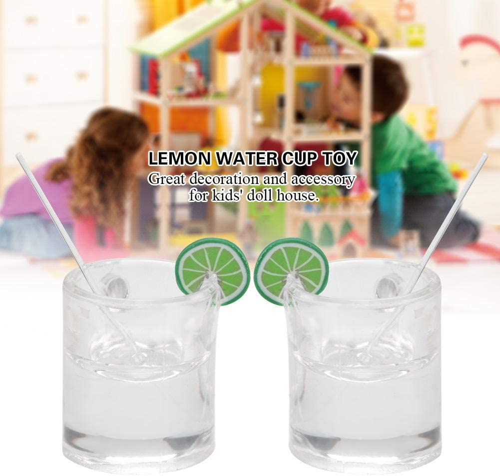1:12 Dollhouse Mini Lemons Water Cup Dollhouse Accessories Toy Mini Decors Gifts