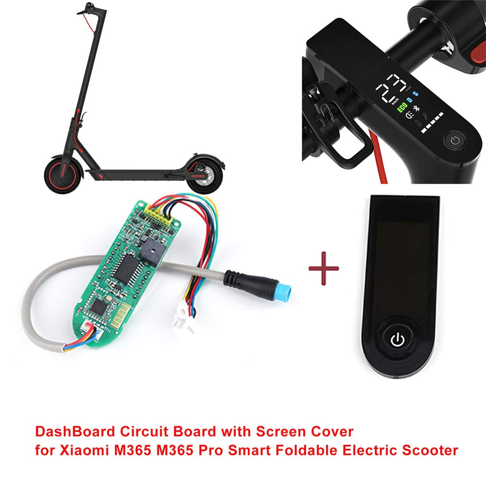 Godyluck Dashboard Circuit Board with Screen Cover for Xiaomi M365 M365 Pro Smart Foldable Electric Scooter