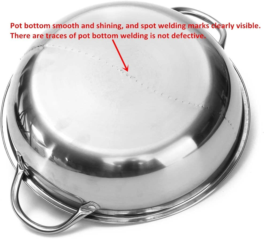 Amazon.com: katoot Hot Pot individual dividido cocina de ...