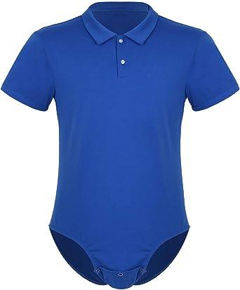 iixpin Body Camisa Mameluco Hombre Mono Verano Manga Corta Pijama de Algodón Lencería Erótica Entrepierna Abierta Ropa Interior Sexy Bodysuit Leotard: Amazon.es: Ropa y accesorios