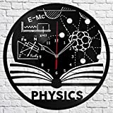 Physics Vinyl Record Wall Clock Fan Art Handmade Decor Original Gift Unique Decorative Vinyl Clock 12″ (30 cm)