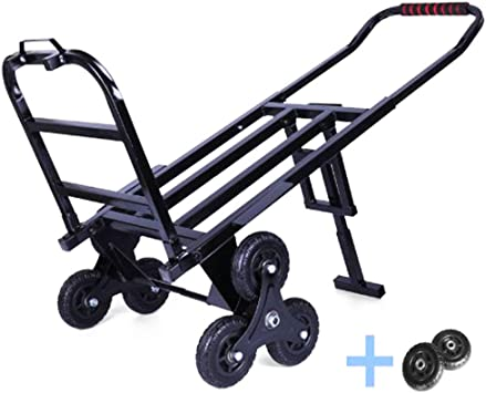 Carro Carro Plegable Subir Escaleras, Carro Carro Escalera Escalada Portátil, Carro Plegable Aluminio Ajustable Dos Posiciones Carro Mano Escalada Resistente Todo Terreno 6 Ruedas: Amazon.es: Bricolaje y herramientas