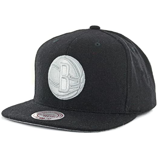 Image Unavailable. Image not available for. Color  Mitchell   Ness   quot Melton Proper quot  Brooklyn Nets Snapback Hat (Black) Men s e210e1297818