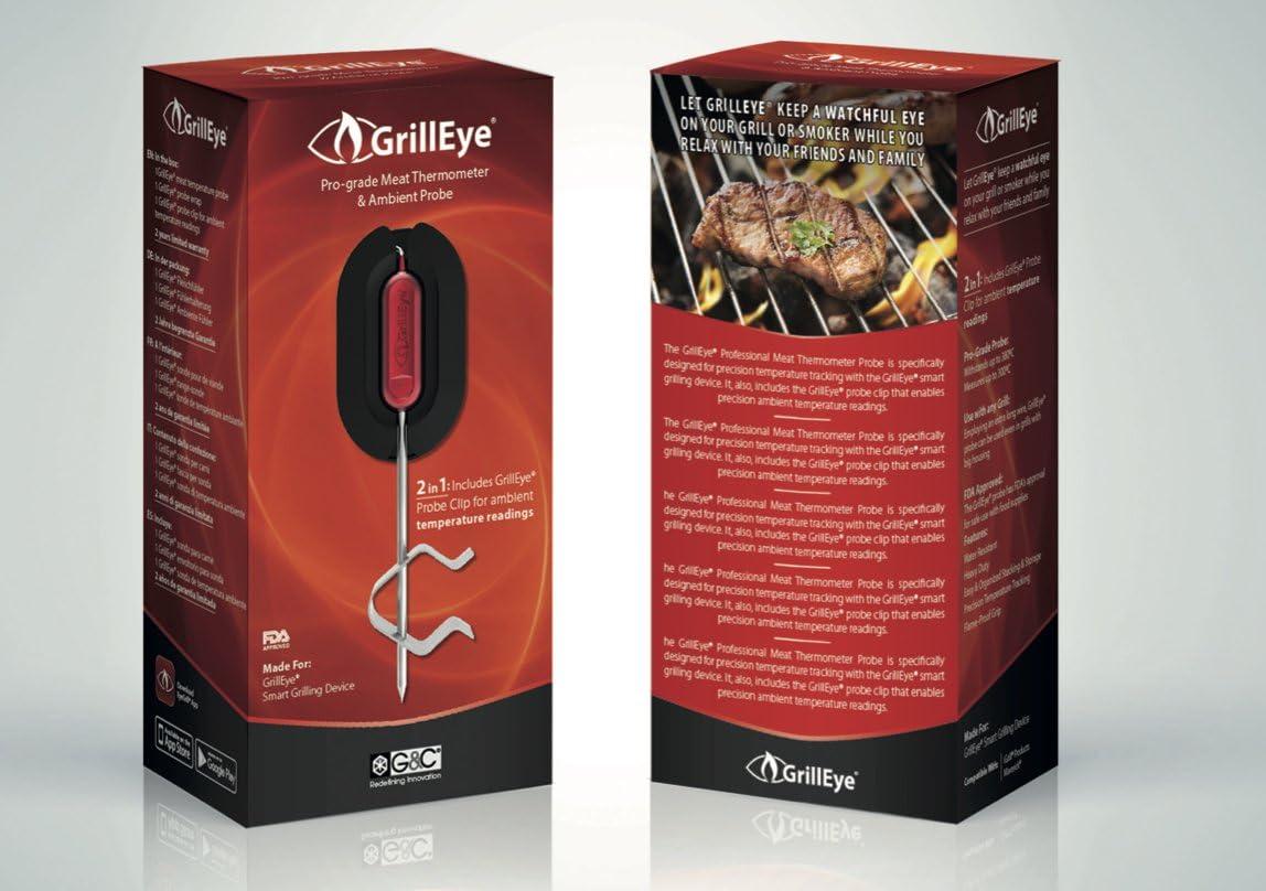 GrillEye Pro Messfühler Probe –für Fleisch oder Gar-Raum verwendbar
