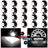 cciyu 20 Pack T4.7 White 5050-SMD LED Neo Wedge A/C Climate Heater Lights 12V Replacement fit for 2001-2012 Dodge Ram 1500 Van Intrepid Dakota Caravan Grand Caravan Ram 5500 4500 3500 Van 3500