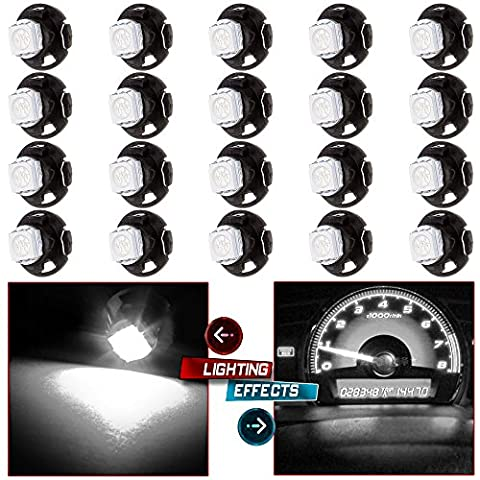 CCIYU 20x T4.7 White 1-5050-SMD LED Neo Wedge Instrument A/C Climate Heater Lights 12V Fits For 2001-2012 Dodge Ram 1500 Van Intrepid Dakota Caravan Grand Caravan Ram 5500 4500 3500 Van (Dodge Caravan Door Accessories)