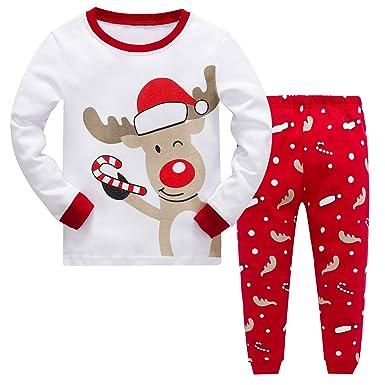 2bee4ad08 Baby Boys Girls Christmas Pyjamas Sets Toddler Kids Childrens ...