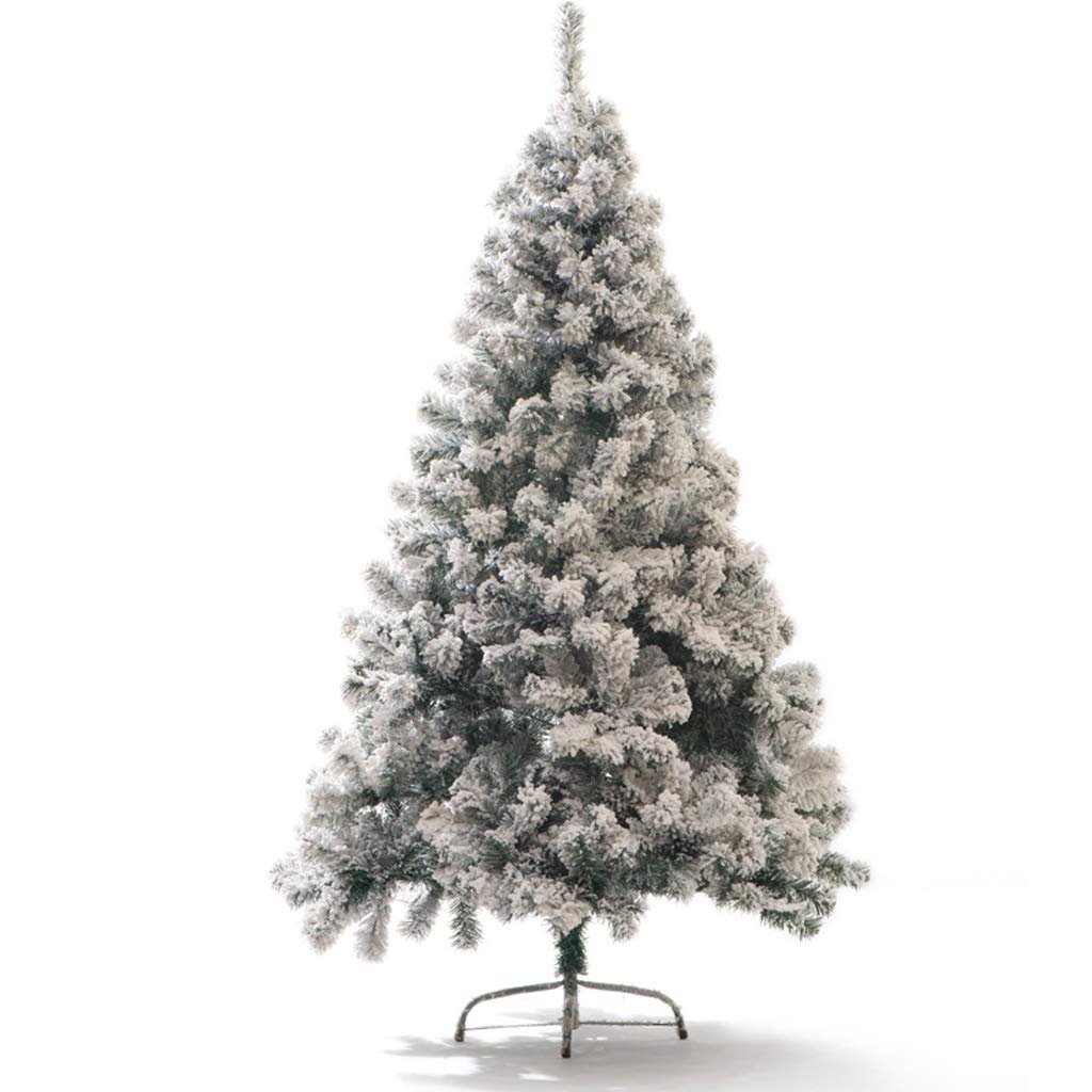 Teng Peng Christmas Tree- Artificial Snowflake Pine Pine Tree Holiday Decorations White 1.8m Iron Stand ^^