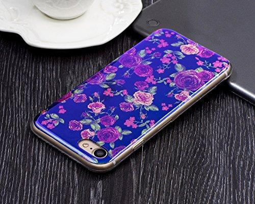 JIALUN-carcasa de telefono Para Apple IPhone 7 caso, la impresión de la moda de la espalda cubierta de la caja del teléfono móvil ( Color : E ) I