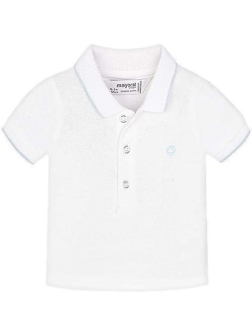 Mayoral 0190 - Polo básico para bebé, Color Blanco - Blanco - 4-6 ...