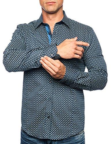 Michael & David Men's Casual Fashion Slim Fit Long Sleeve Dress Shirts 2XL MD449
