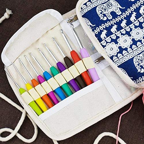 Crochet Hooks Set with Best Design, 14pcs Sewing Aluminum TPR Crochet Hook Weave Craft Yarn Convenient - Aluminum Crochet Hook Set, Crochet in Crafts, Crochet Hook Set, Crochet N Weave