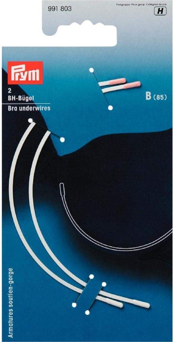 Prym 991803-1 991803-Sujetador con aro (Talla B, 85), Color blanco, plástico