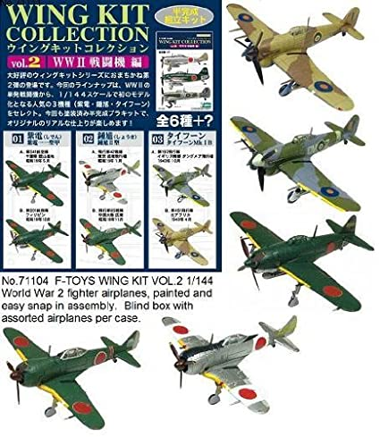 Amazon com: F-TOYS Wing Kit Vol 2 1/144 Scale WW2 Fighters