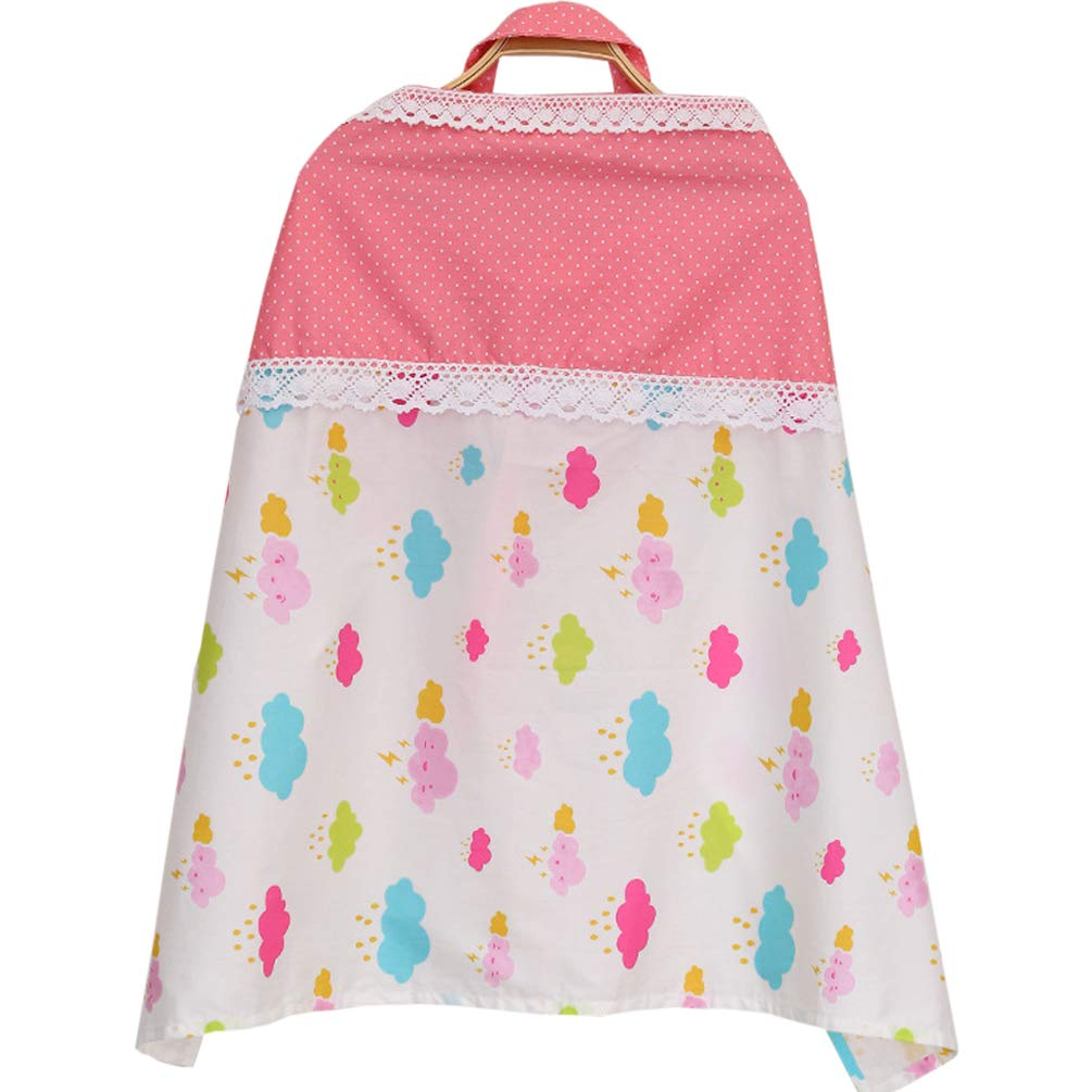 Zmmyr Cotton Breastfeeding Towel Nursing Cover Lactation Towels Baby Car Seat Canopy Cover Pink Girl