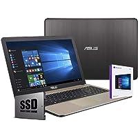 """ASUS Vivobook Ordenador Portátil De 15.6"""" HD AMD A6-9225 2,60 GHz, 4 GB RAM,SSD de 240 GB, AMD Radeon R4 Graphics, Windows 10 Professional -Teclado QWERTY Italiano Notebook"""