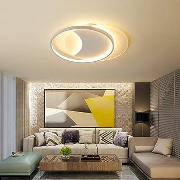Luz De Techo Moderna Del LED, Lámpara De Techo Del Dormitorio Lámpara Colgante Regulable De Acrílico Ultra Delgada De La Lámpara Redonda Para El ...