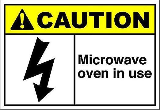 Tarfy Microwave Oven in Use Caution Decoración de Pared ...