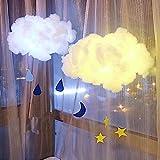 Cotton Cloud Lights,Hongxin Creative Art Design Romantic Cotton Cloud Led White Soft Floating Hanging Pendant Light For Living Room Bedroom Restaurant Decor