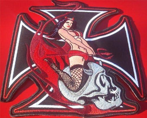 KULT XXXL Biker Aufn/äher Patch Skull Rider Lady