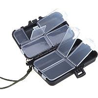 sungpunet Mini 9compartimentos señuelos de pesca cuchara ganchos