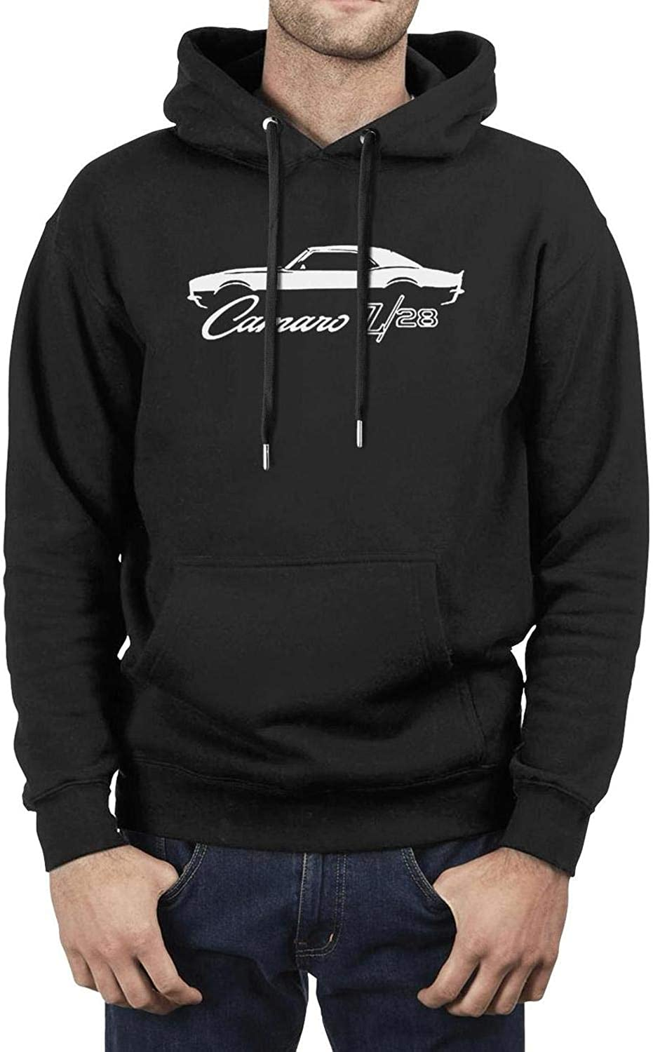 ZWZHI 1969-Ca-maro-Z28-Muscle-Car Mens Funny Pullover Hoodies Long Sleeve Sweatshirts with Pockets