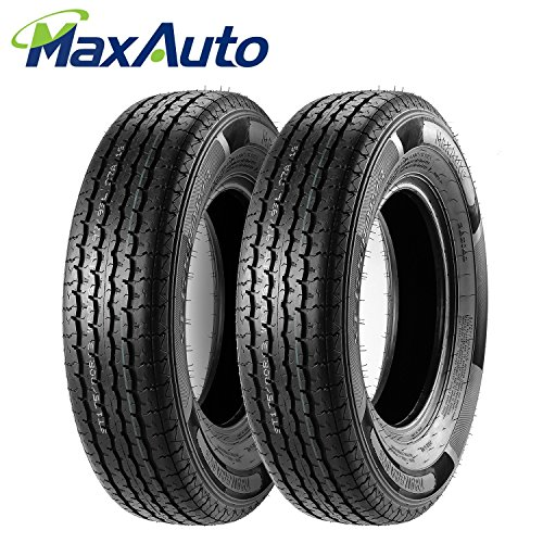Set of 2 Radial HD Trailer Tire 175/80R13 17580R13 Load Range D 97/93L for Boat Camper Cargo Horse,DOT Compliant