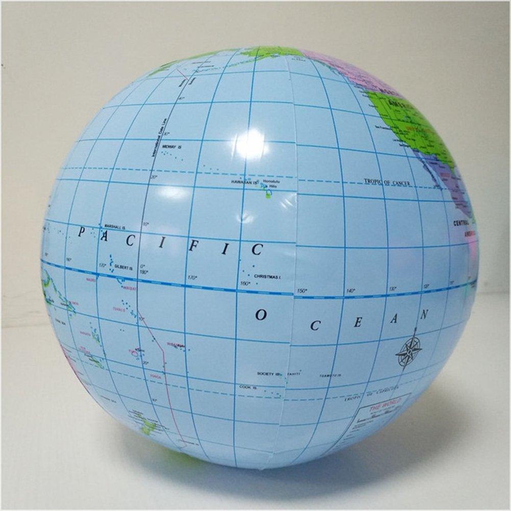 YeahiBaby Globo inflable globo de la tierra Mapa Educativo Playa jugando juguete de la bola: Amazon.es: Juguetes y juegos