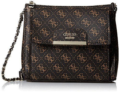 GUESS Ryann Mini Crossbody Top Zip, Brown