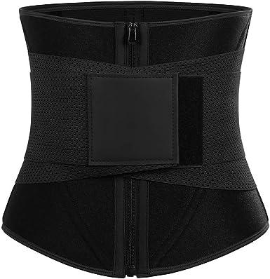 Waist Trainer Belt Tummy Control Waist Black, 2XL Slimming Body Shaper Belt Workout Slim Belly Band for Weight Loss Sport Girdle Belt Waist Cincher Trimmer Waist Trainer Belt for Women