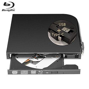 KuWFi USB 3.0 Type-C - Reproductor de DVD Externo con Ranura para CD y