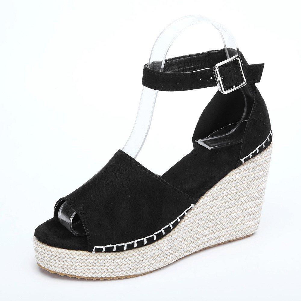 987bf9689711c Amazon.com : TTbuy Women's Espadrille Strappy Platform Wedges ...