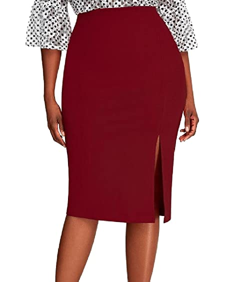 3de5252d8 YUNY Womens Oversized Cut Out Solid Bodycon Pencil Skirt Underskirts ...