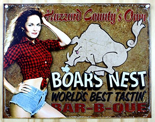 Dukes of Hazzard - Boars Nest Tin Sign 16 x 13in
