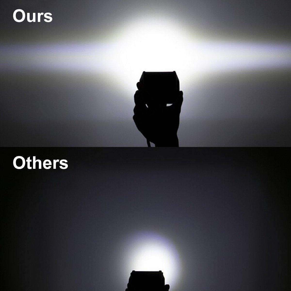 LED Lichtleiste Autofeel Tri-Reihe 2pcs 18w 4 Zoll Spot Licht ...