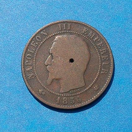 Amazon com: France 10 Centimes 1856-K Coin Napoleon III