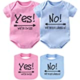 b420def497b Baby Bodysuits for Twin Boys Girls Twin Clothes Unisex Short Sleeve Yes We  are Twins No