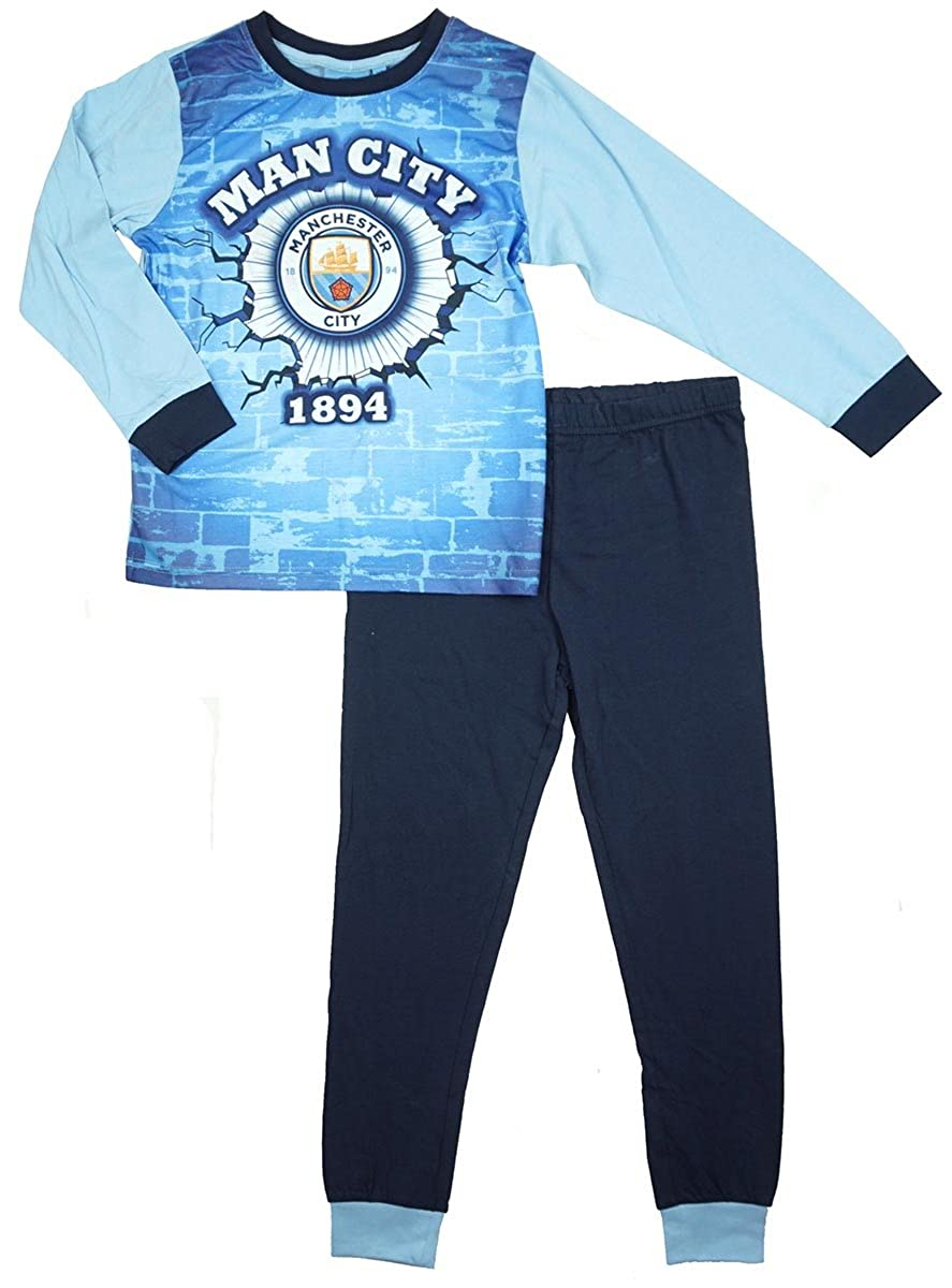 Boys Official Man Manchester City FC Football Club MCFC Long Pyjamas Sizes from 3 to 12 Years