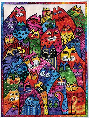 Design Works Counted Cross Stitch Kit - Laurel Burch Cat Collage ()