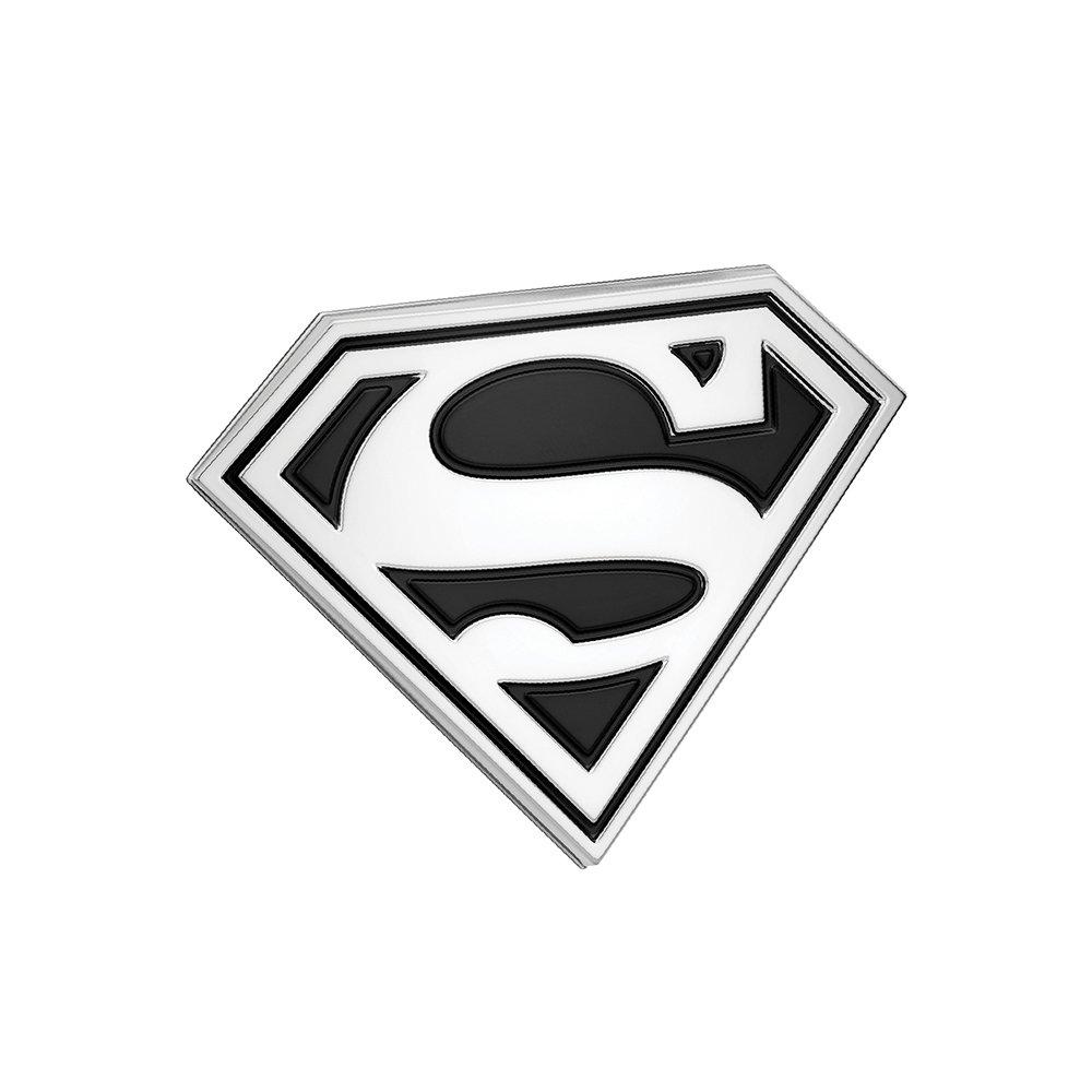 Laptops Windows DC Comics Automotive Sticker Decal Badge Flexes to Fully Adhere to Cars Trucks Almost Anything LNI AUSTRALIA Fan Emblems Superman Logo 3D Car Emblem Black//Chrome Motorcycles