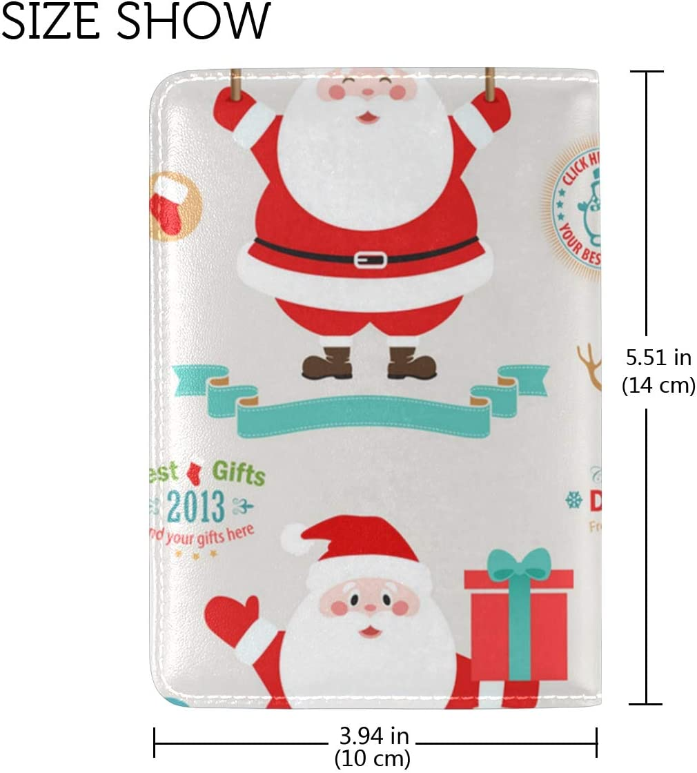 Adorable Dab Santa Claus Leather Passport Wallet for Passport Holder for Safe Trip durable Easy to Carry