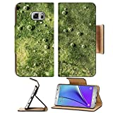 Luxlady Premium Samsung Galaxy Note 5 Flip Pu Leather Wallet Case Note5 IMAGE ID 31461199 on the metal under water