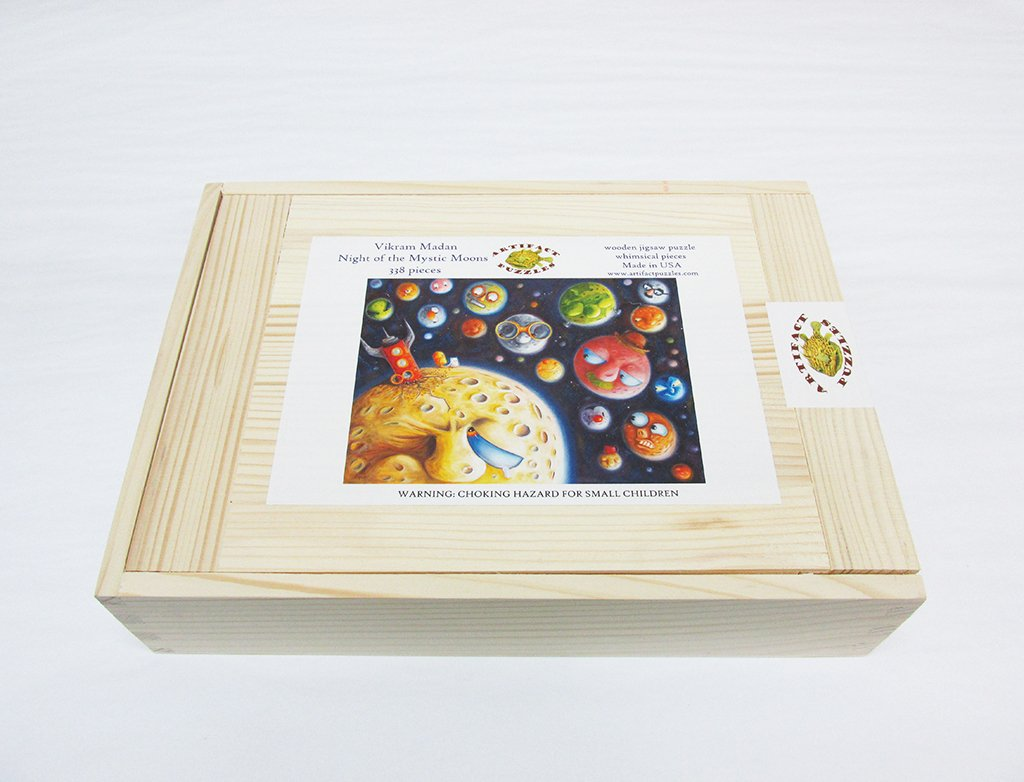 Artifact Puzzles Vikram Madan Night of The Mystic Moons Wooden Jigsaw Puzzle