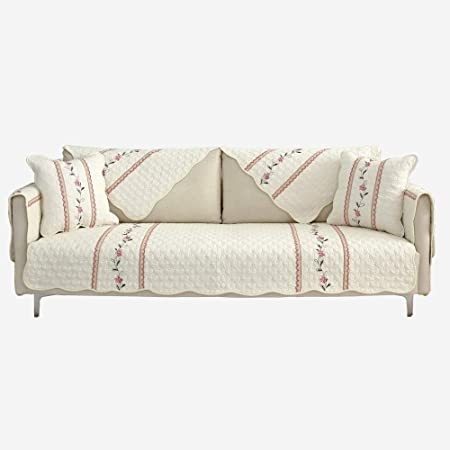Hybad Cubre Sofas,Funda de sofá de Tela/Cuero de algodón,Funda de sofá Universal Antideslizante blanquecina,Funda de Asiento de sofá Suave,Alfombra de salón/Alfombra-A_90 * 160cm: Amazon.es: Hogar