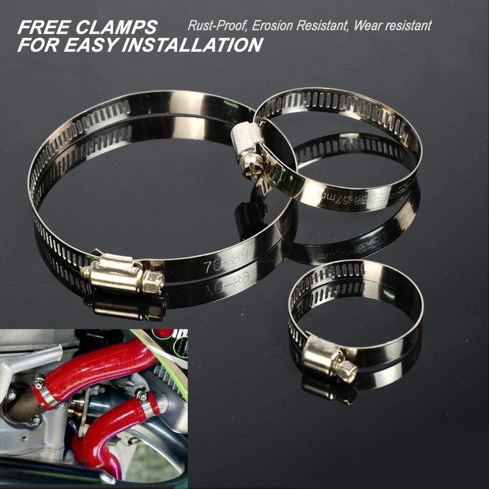 Silicone Radiator Coolant Hose Kit Clamps For Nissan Datsun 280Z S130 L28 1975 1976 1977 1978 Black